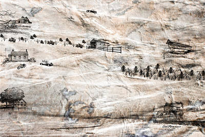 Covered Bridge Mixed Media - Outside The City by EricaMaxine  Price