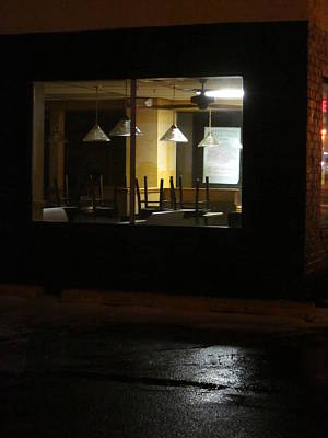 Photograph - Outside The Edward Hopper Cafe by Guy Ricketts