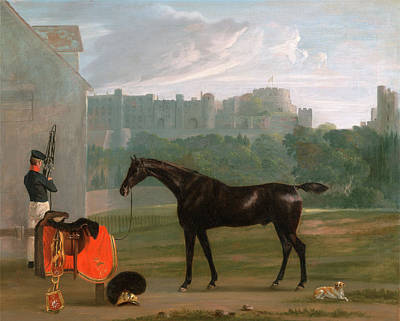 Tack Painting - Outside The Guard House At Windsor Signed by Litz Collection