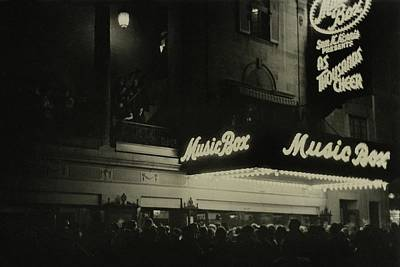 Cheers Photograph - Outside The Music Box Theatre by Remie Lohse