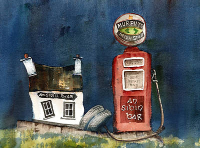 Painting - Outside The Sibin Bar Kerry by Val Byrne