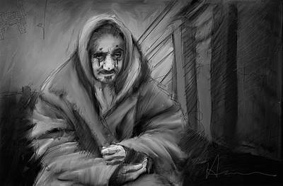 Depression Painting - Winter's Clown.  by H James Hoff
