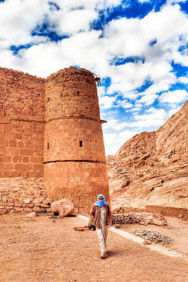 Photograph - Outside The Walls Of Historic Saint Catherine's Monastery - Egypt by Mark E Tisdale