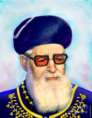 Painting - Ovadiah Yosef by Sam Shacked