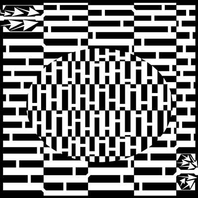 Checkered Pattern Drawing - Oval Checker Pattern Maze by Yonatan Frimer Maze Artist