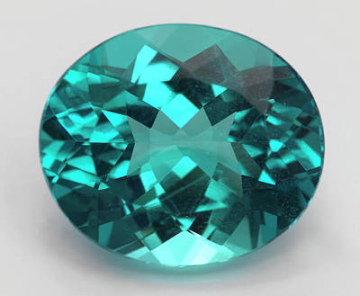Oval Cut Apatite Gemstone Print by Dorling Kindersley/uig