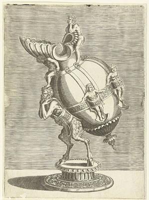 Oval Jug, Balthazar Van Den Bos, Cornelis Floris II Art Print