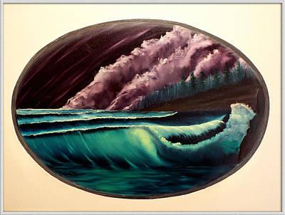 Oval Ocean View Art Print by Joyce Krenson
