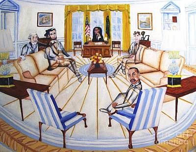 Oval Office Ghost With President Obama  Original by Kenneth Michur