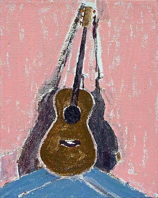 Acoustic Guitar Drawing - Ovation Legend Ltd Guitar by Anita Dale Livaditis