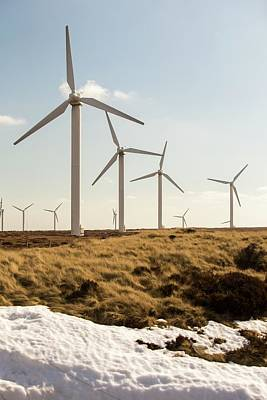 Ovenden Moor Wind Farm Art Print
