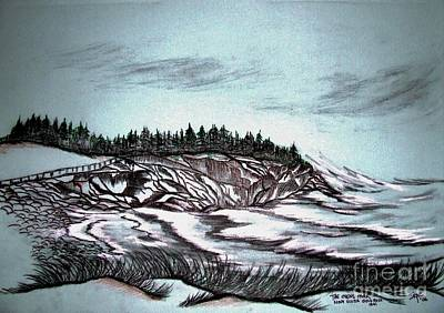 Nobody Drawing - Oven's Park Nova Scotia by Janice Rae Pariza