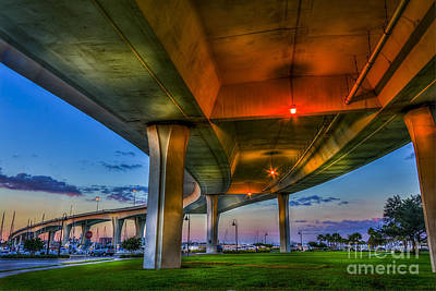 Harbor Bridge Wall Art - Photograph - Over And Beyond by Marvin Spates