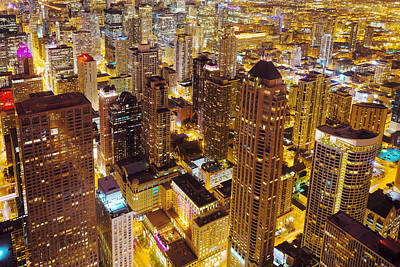 Magnificent Mile Photograph - Over Chicago by Joel Olives