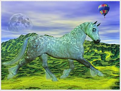 Fantasy Mixed Media - Over Ozs Rainbow by Betsy Knapp