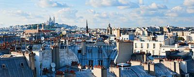 Sacre Coeur Photograph - Over Paris Rooftops To Sacre Coeur by Allan Van Gasbeck