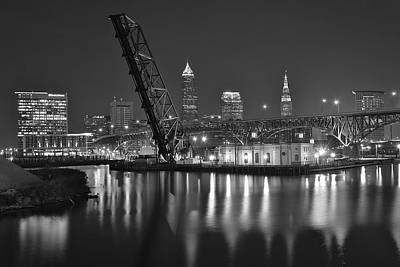 Rolled Yard Photograph - Over The Cuyahoga by Frozen in Time Fine Art Photography