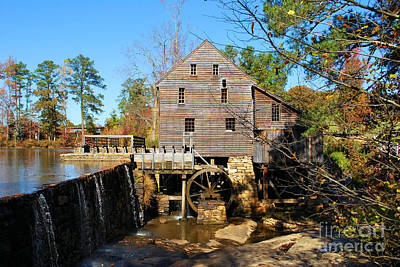 Photograph - Over The Dam At Yates Mill by Bob Sample