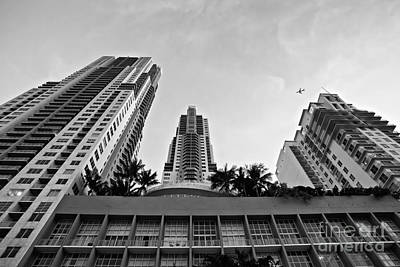 Poster Photograph - Over The Downtown - Bw by Eyzen M Kim