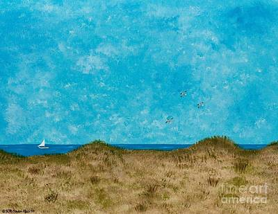 Contemplative Painting - Over The Dunes by Hillary Binder-Klein