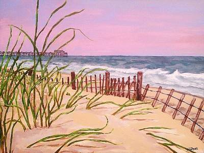 Over The Dunes To The Garden City Pier  Original by Heather  Gillmer