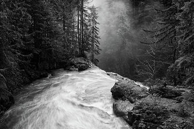 Haze Photograph - Over The Falls by James K. Papp