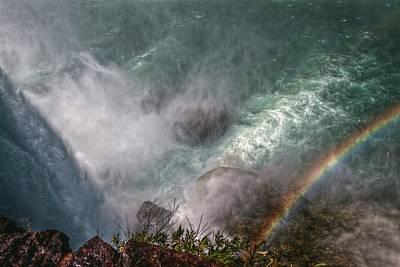 Rage Digital Art - Over The Falls by Linda Unger