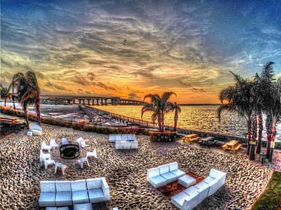 Digital Art - Over The Gulf V2 by Michael Thomas