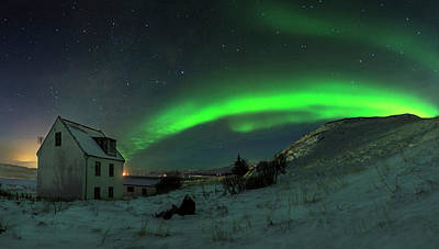 Green Houses Photograph - Over The Hill by Bragi Ingibergsson -
