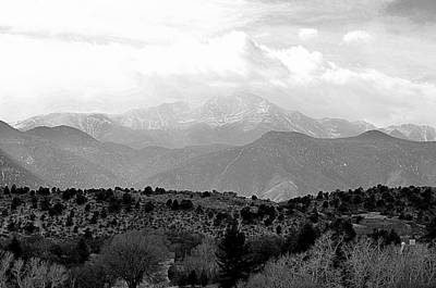 Photograph - Over The Hills To Pikes Peak by Clarice  Lakota