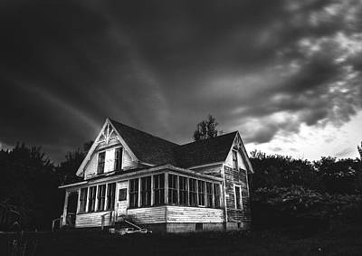 Haunted House Digital Art - Over The Hills by Kenny  Noddin