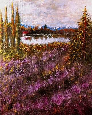 Over The Lavender Field.. Art Print by Cristina Mihailescu
