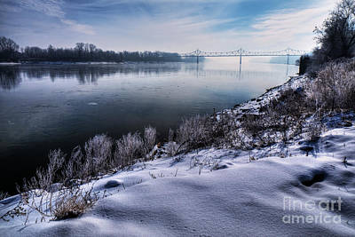 Over The Missouri Mists In March Art Print