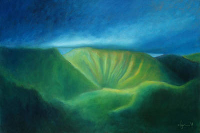 Painting - Over The Pali by Angela Treat Lyon