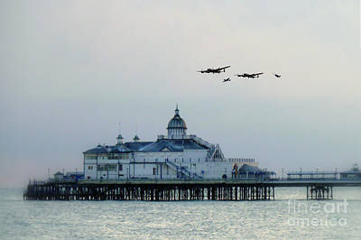 Eastbourne Digital Art - Over The Pier  by J Biggadike