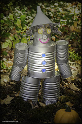 Photograph - Over The Rainbow Garden Tin Man by LeeAnn McLaneGoetz McLaneGoetzStudioLLCcom