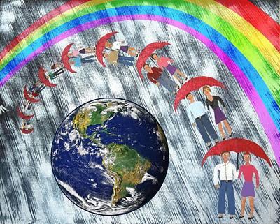 Wellington Digital Art - Over The Rainbow by Ron Davidson