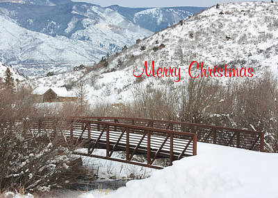 Christmas Card Art Photograph - Over The River by Kim Hojnacki
