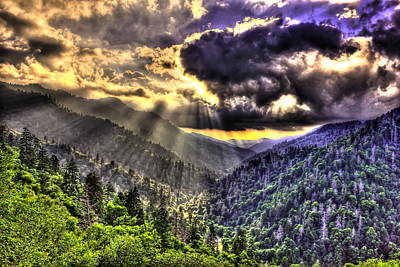 Over The Top The Great Smoky Mountains Art Print