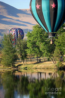 Over The Trees And Into The River Art Print by Carol Groenen