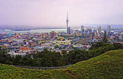 Over View Of Auckland Original by Linda Phelps