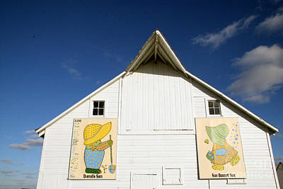 Overall Sam And Sunbonnet Sue Barn Quilts Art Print by Amelia Painter