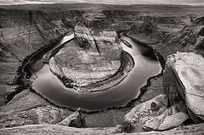 Photograph - Overcast At Horseshoe Bend by Brad Brizek
