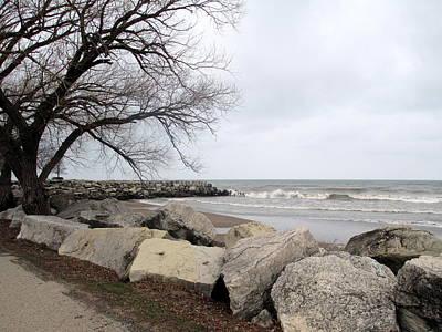 Photograph - Overcast Day Along Lake Michigan by Kay Novy
