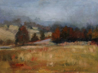 Painting - Overcast January Day In Lascassas by Carol Berning