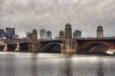 Charles River Photograph - Overcast On The Longfellow by Joann Vitali