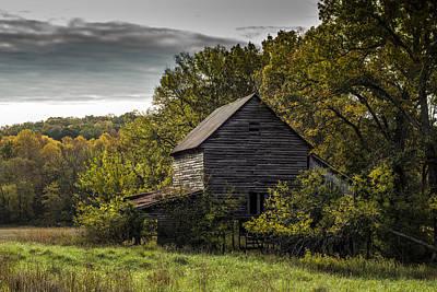 Tobacco Barns Photograph - Overgrown by Amber Kresge