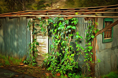 Overgrown And Abandoned 2 Art Print by Barbara Snyder