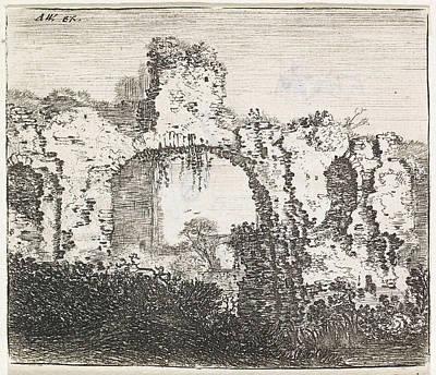 House Plant Drawing - Overgrown Ruins, Jan Ruyscher by Jan Ruyscher
