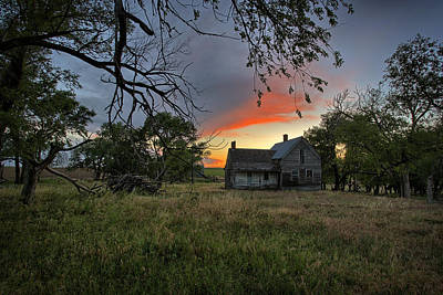 Farmstead Photograph - Overgrown by Thomas Zimmerman